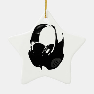 Pop Art Headphone Ceramic Ornament