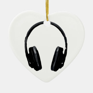 Pop Art Headphone Ceramic Ornament