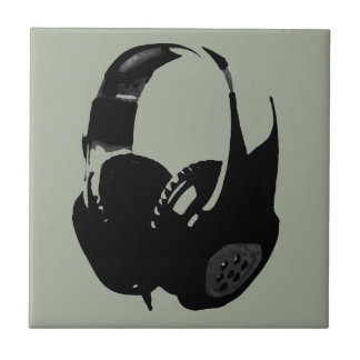 Pop Art Headphone Ceramic Tile