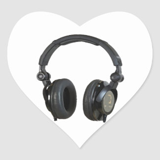 Pop Art Headphone Heart Sticker