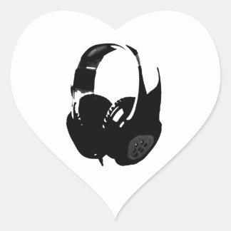 Pop Art Headphone Heart Sticker