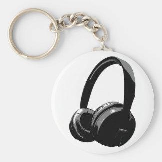 Pop Art Headphone Keychain