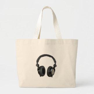 Pop Art Headphone Large Tote Bag