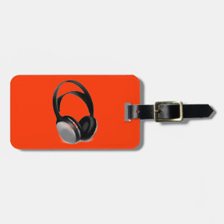 Pop Art Headphone Tags For Luggage