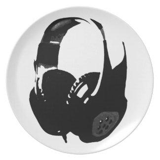 Pop Art Headphone Melamine Plate