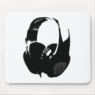 Pop Art Headphone Mouse Pad