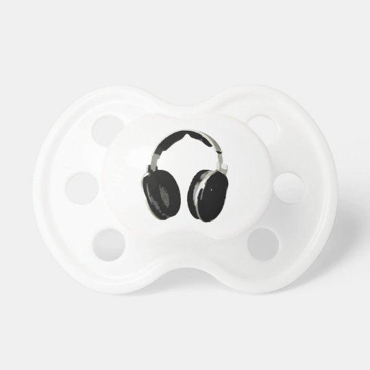 Pop Art Headphone Pacifier