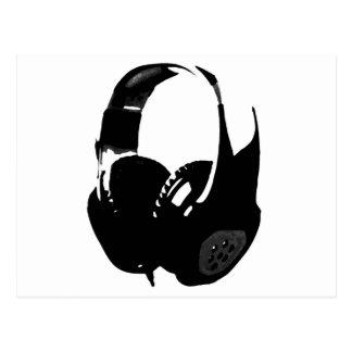 Pop Art Headphone Postcard
