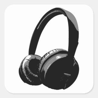 Pop Art Headphone Square Sticker