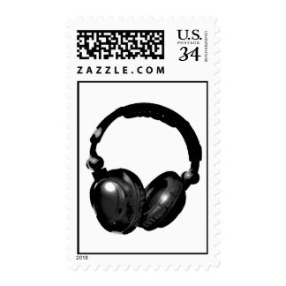 Pop Art Headphone Stamp Postage