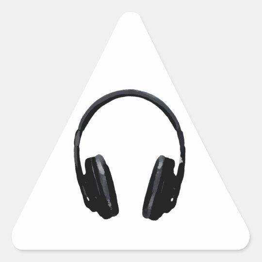 Pop Art Headphone Triangle Sticker