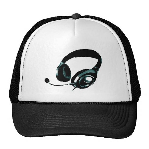 Pop Art Headphone Trucker Hat