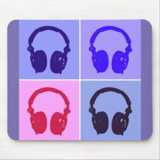 Pop Art Headphones Mouse Pad