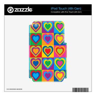 Pop Art Hearts iPod Touch 4G Decals