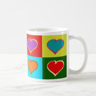 Pop Art Hearts Mug