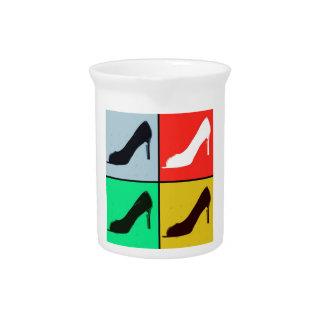 Pop Art High Heel Pumps Drink Pitcher