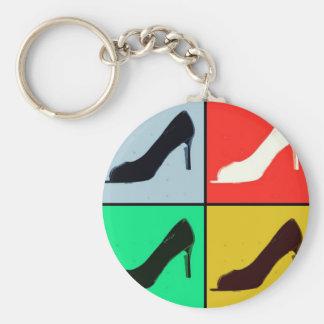 Pop Art High Heel Pumps Keychain