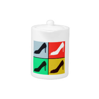 Pop Art High Heel Pumps Teapot