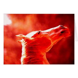 Pop Art Horse Head Card