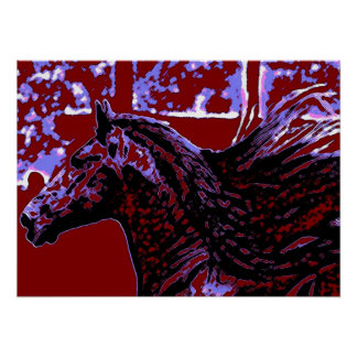 Pop Art Horse Poster