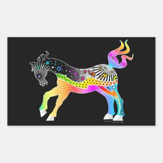 Pop Art HORSE Rectangular Sticker