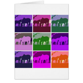 Pop Art Horses Card