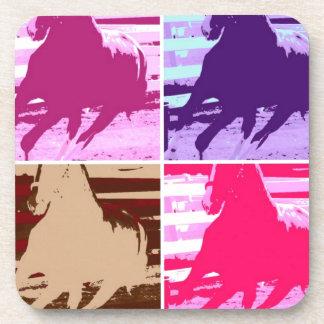Pop Art Horses Coaster