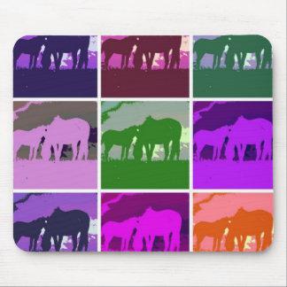 Pop Art Horses Mouse Pad