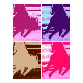 Pop Art Horses Postcard