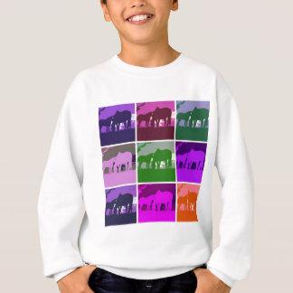 Pop Art Horses Sweatshirt