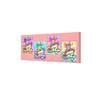 Pop Art HOT DOG Gallery Wrapped Canvas