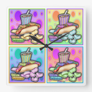Pop Art HOT DOG WALL CLOCK