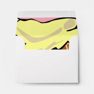 Pop Art Ice Cream Cone Envelope