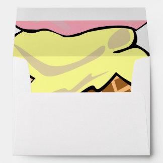 Pop Art Ice Cream Lined Envelope
