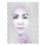 Pop Art Inspired Portrait Postcard