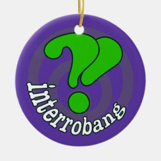 Pop Art Interrobang (Blurple) Christmas Ornaments