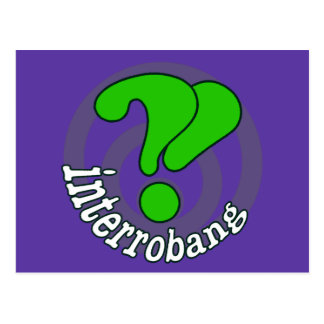 Pop Art Interrobang Blurple Postcard