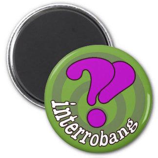 Pop Art Interrobang (Green) Fridge Magnets
