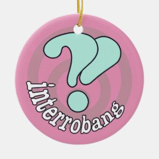 Pop Art Interrobang (Pink) Ornaments