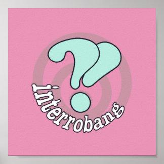 Pop Art Interrobang (Pink) Poster