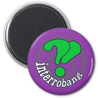 Pop Art Interrobang (Purple) Refrigerator Magnet