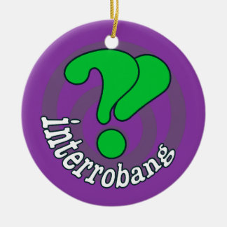 Pop Art Interrobang (Purple) Ornament