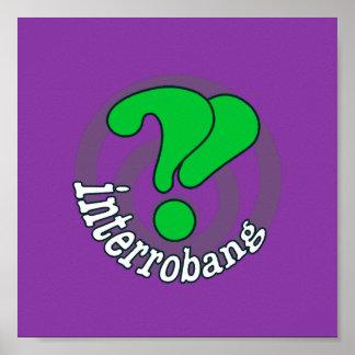 Pop Art Interrobang (Purple) Posters