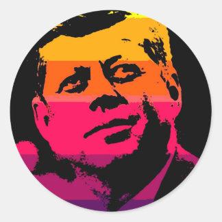 Pop Art Jack JFK John F. Kennedy Classic Round Sticker