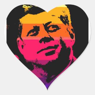 Pop Art Jack JFK John F. Kennedy Heart Sticker