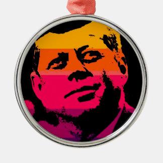 Pop Art Jack JFK John F. Kennedy Metal Ornament