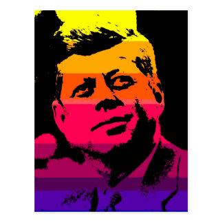 Pop Art Jack JFK John F. Kennedy Postcard
