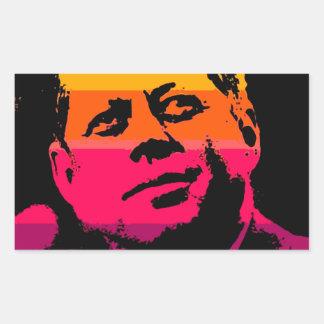 Pop Art Jack JFK John F. Kennedy Rectangular Sticker