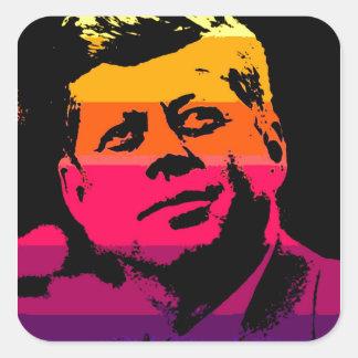 Pop Art Jack JFK John F. Kennedy Square Sticker