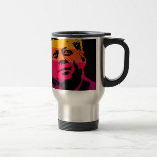 Pop Art Jack JFK John F. Kennedy Travel Mug